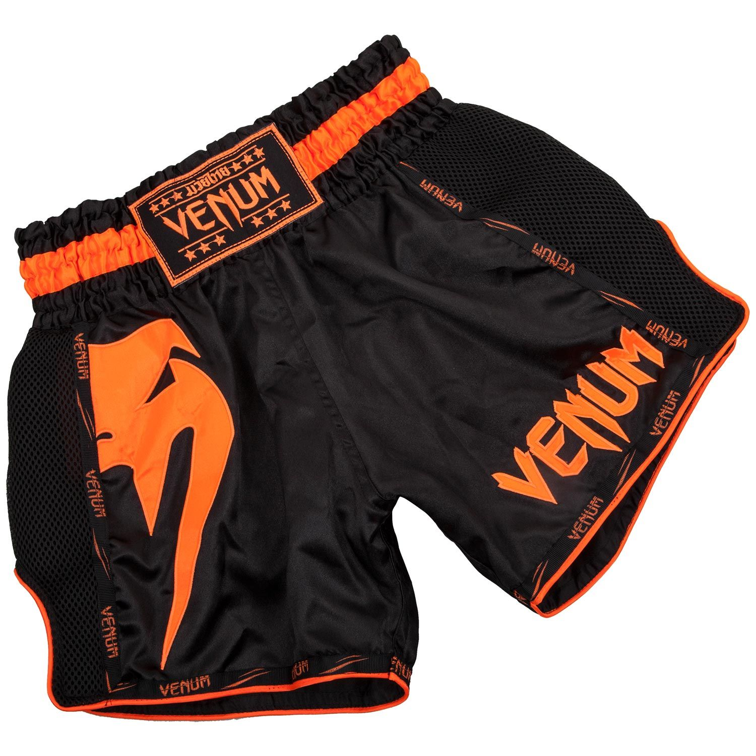 Short de Muay Thai Venum Giant - Noir/Orange Fluo