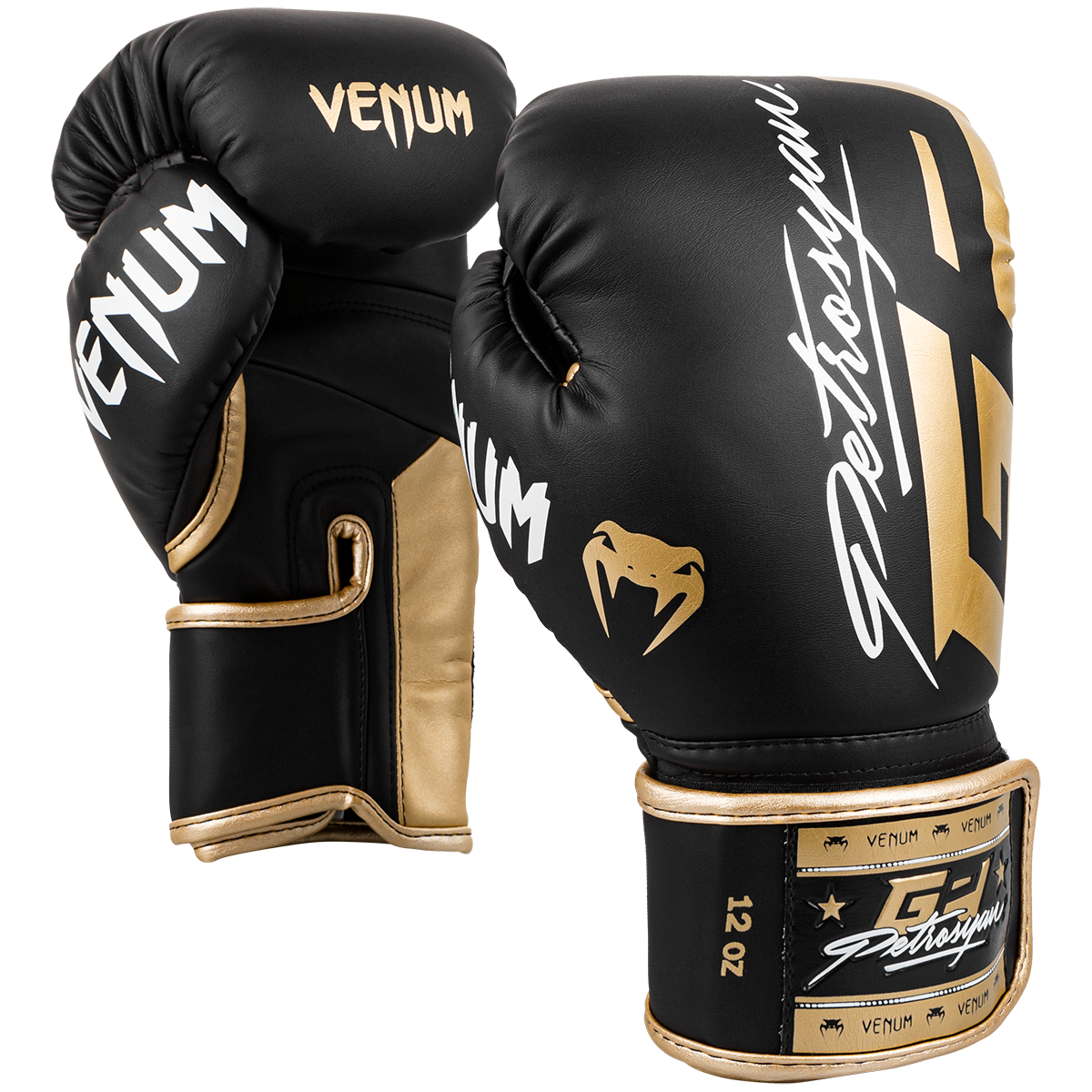 Venum Petrosyan Boxing Gloves - Black/Gold