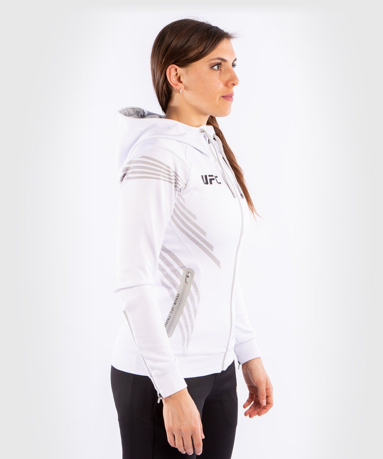 UFC Venum Fighters Authentic Fight Night Women's Walkout Hoodie - White