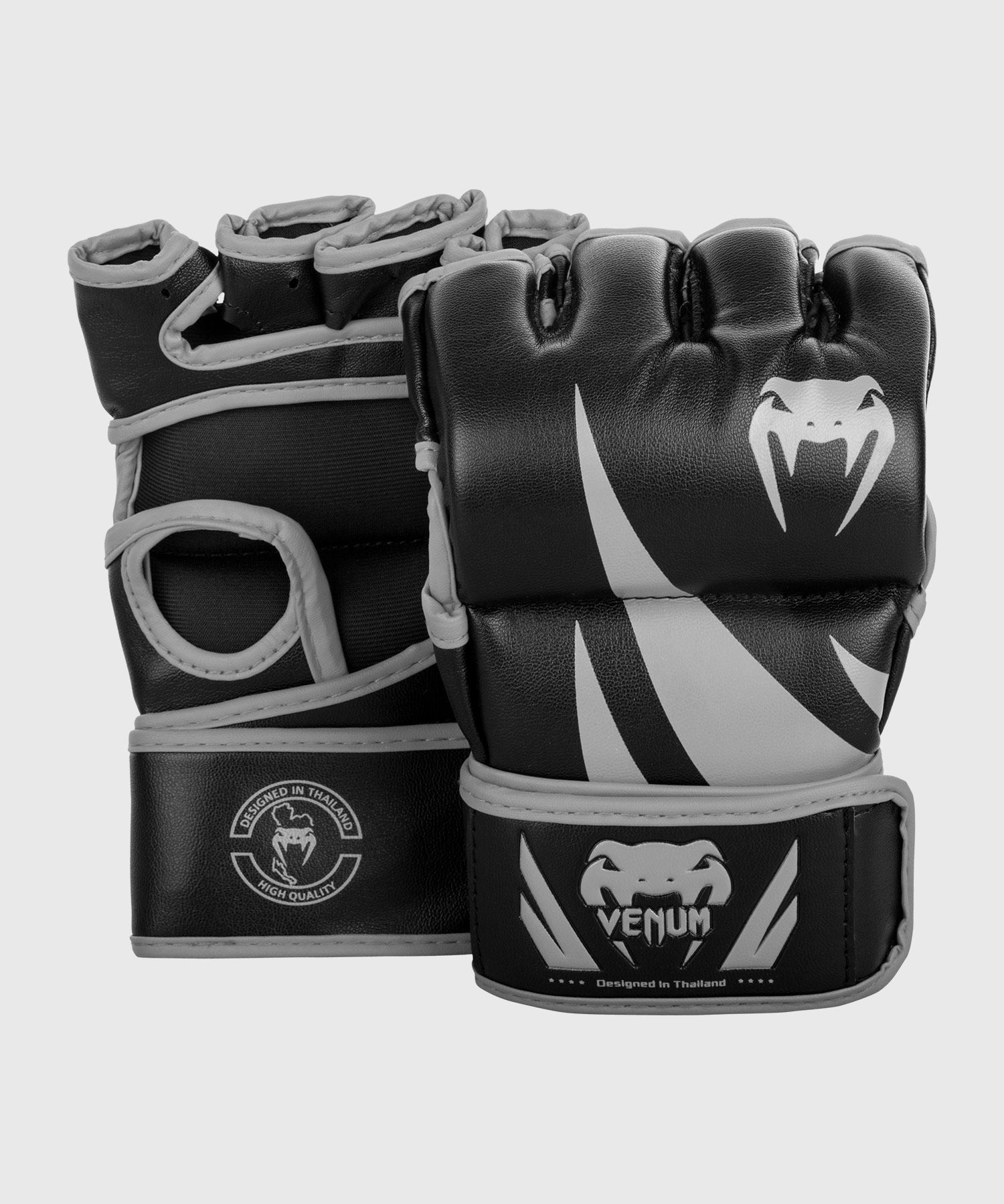 Venum Challenger MMA Gloves - Without Thumb - Black/Grey