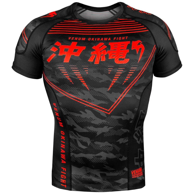 Venum Okinawa 2.0 Rashguard - Korte mouwen - Zwart/rood