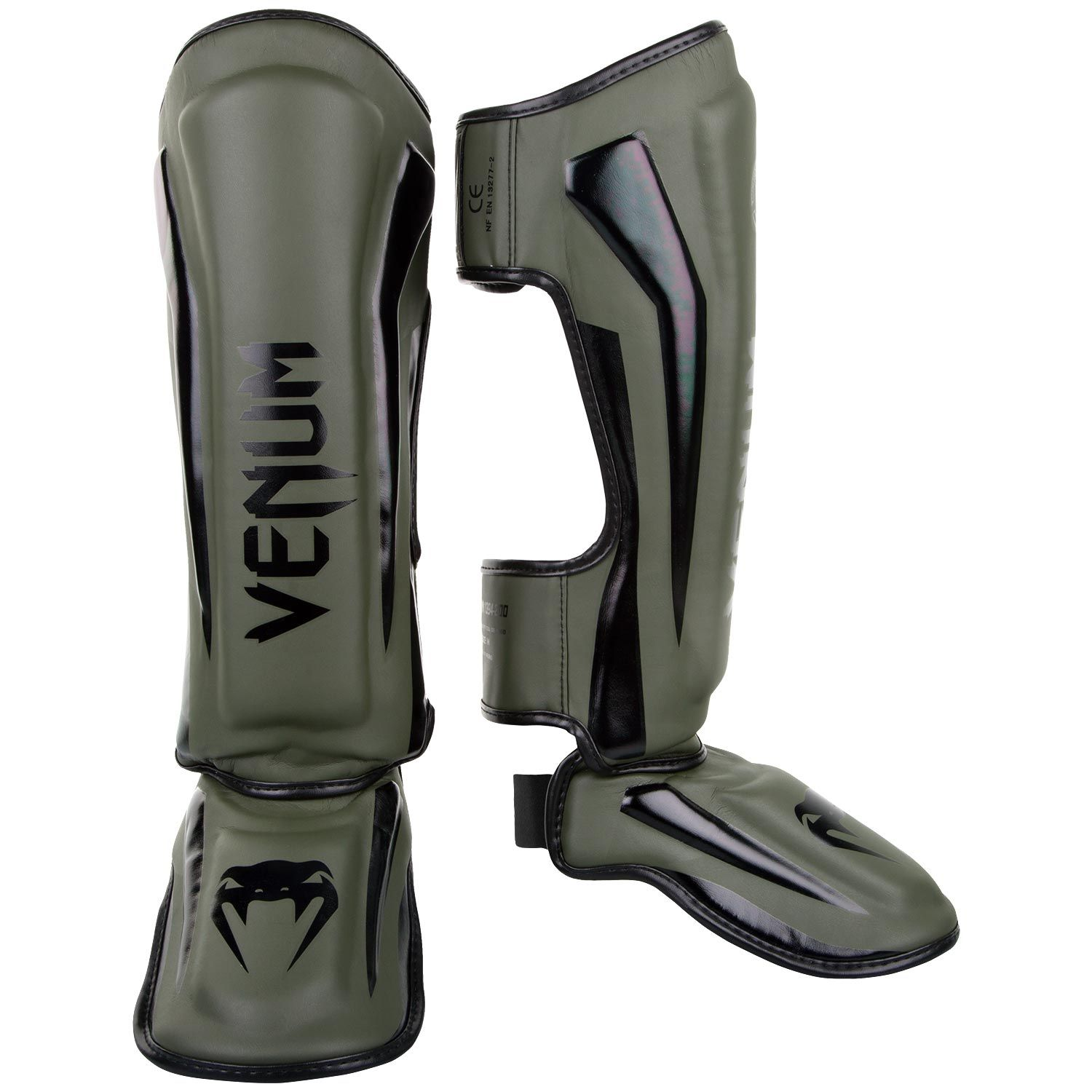 Venum Elite Standup Shin guards - Khaki/Black