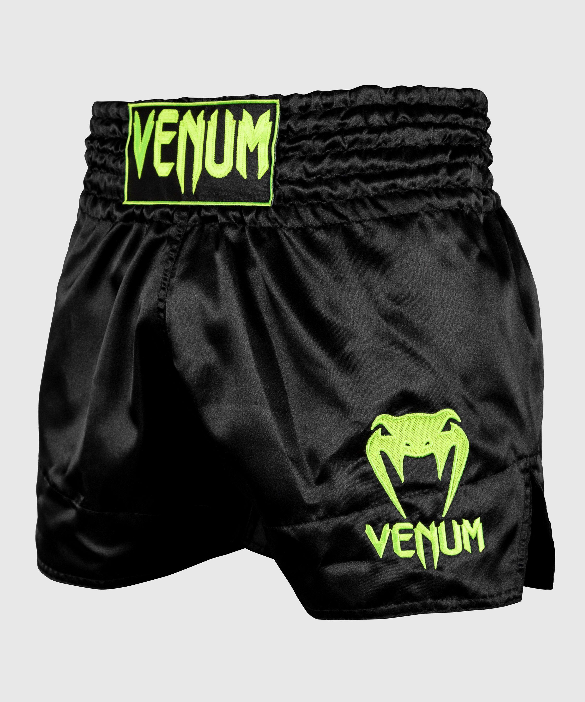 Venum Muay Thai Shorts Classic - Zwart/Neongeel