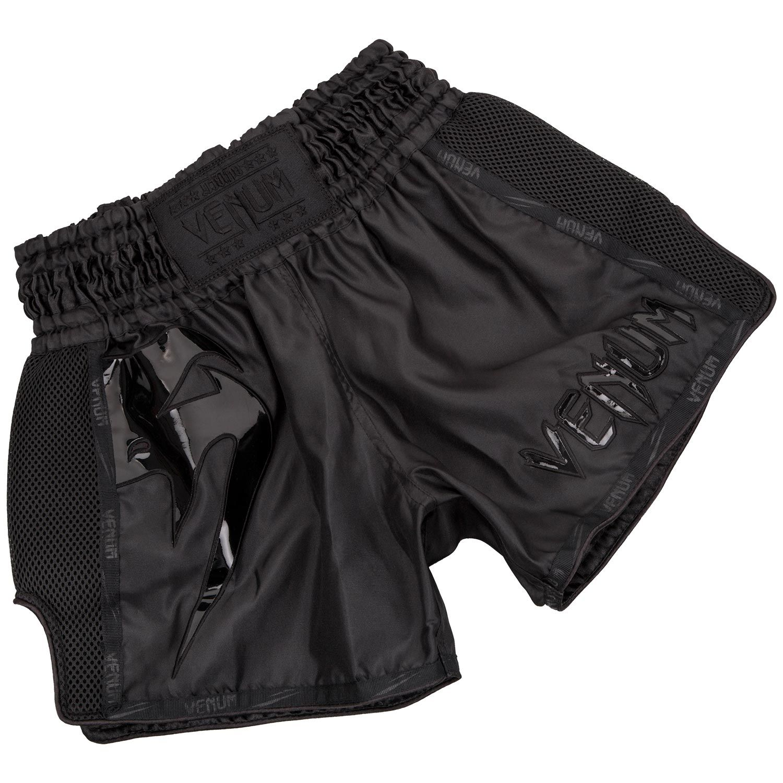 Venum Giant Muay Thai Short - Zwart/Zwart