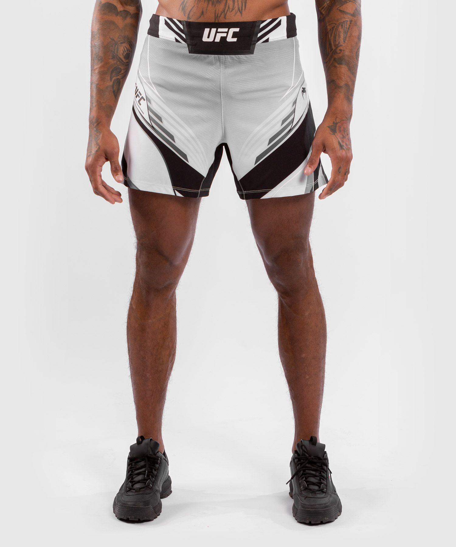 Pantalón De MMA Para Hombre UFC Venum Authentic Fight Night – Modelo Corto - Blanco