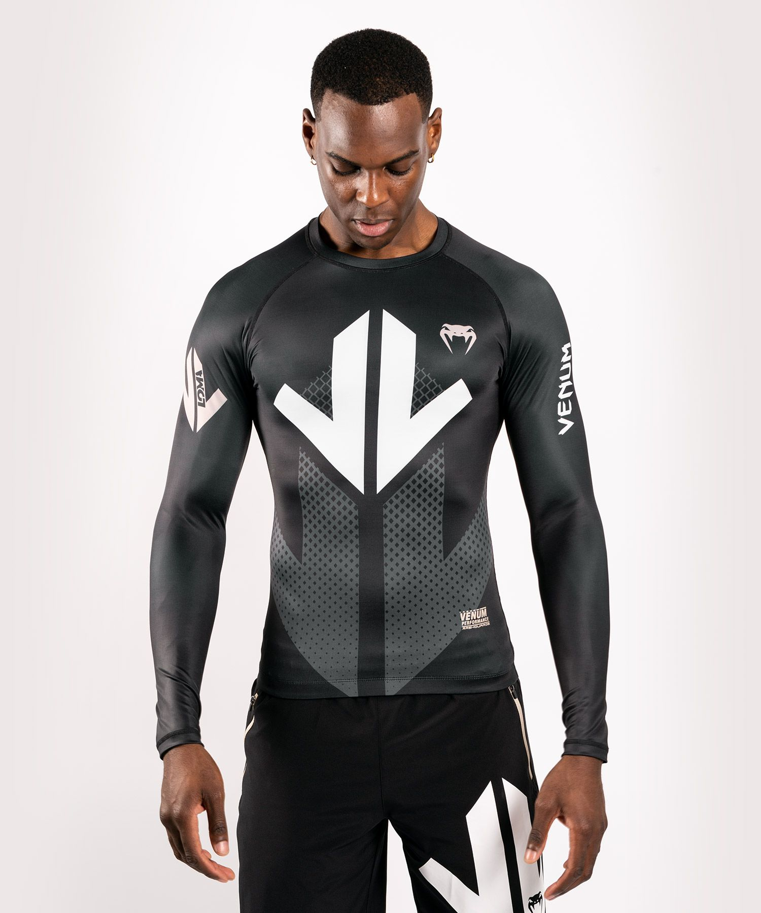 Venum Arrow  Loma Signature Collection Rashguard met lange mouwen - Zwart/wit