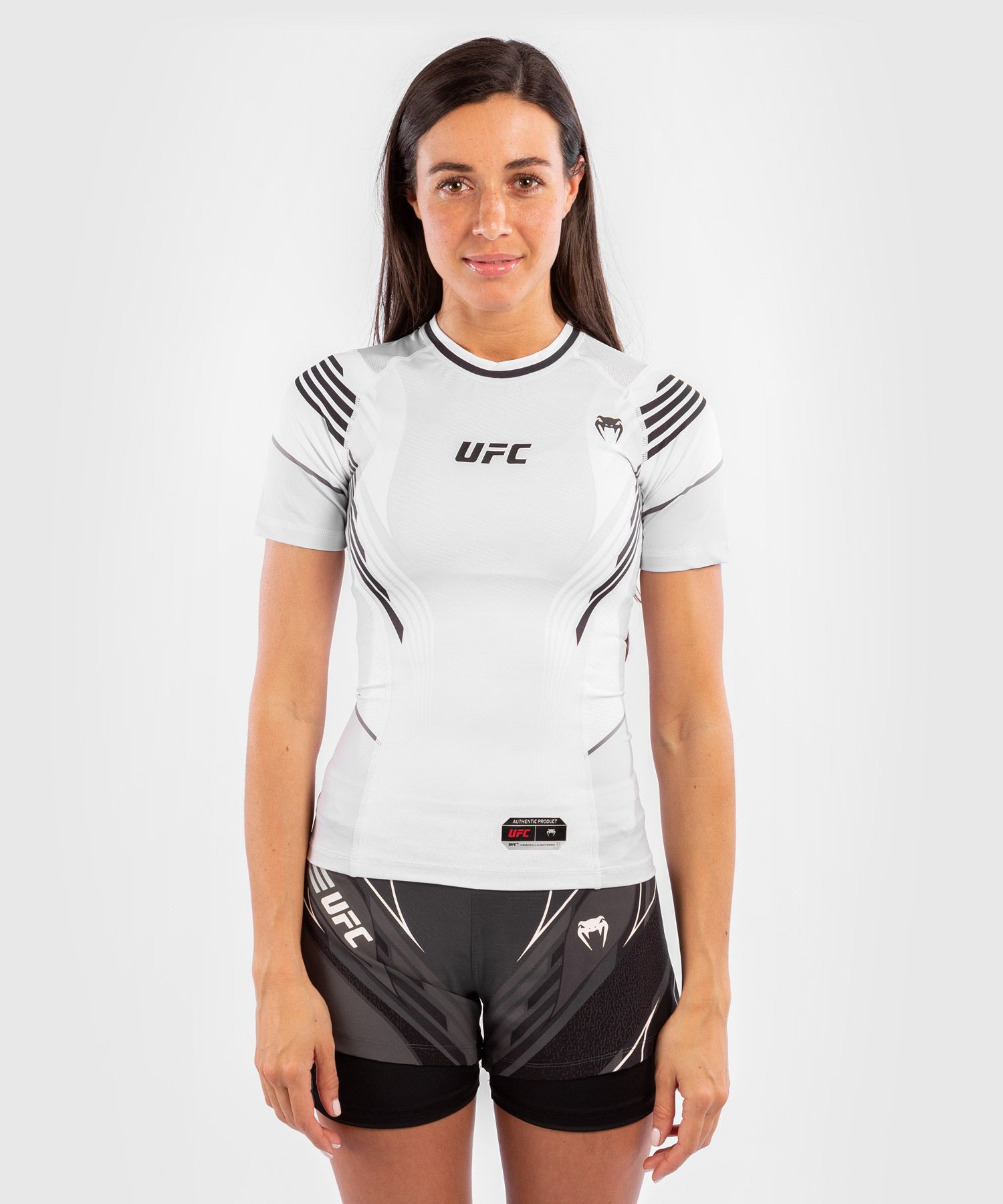 Rashguard Donna UFC Venum Authentic Fight Night - Bianco