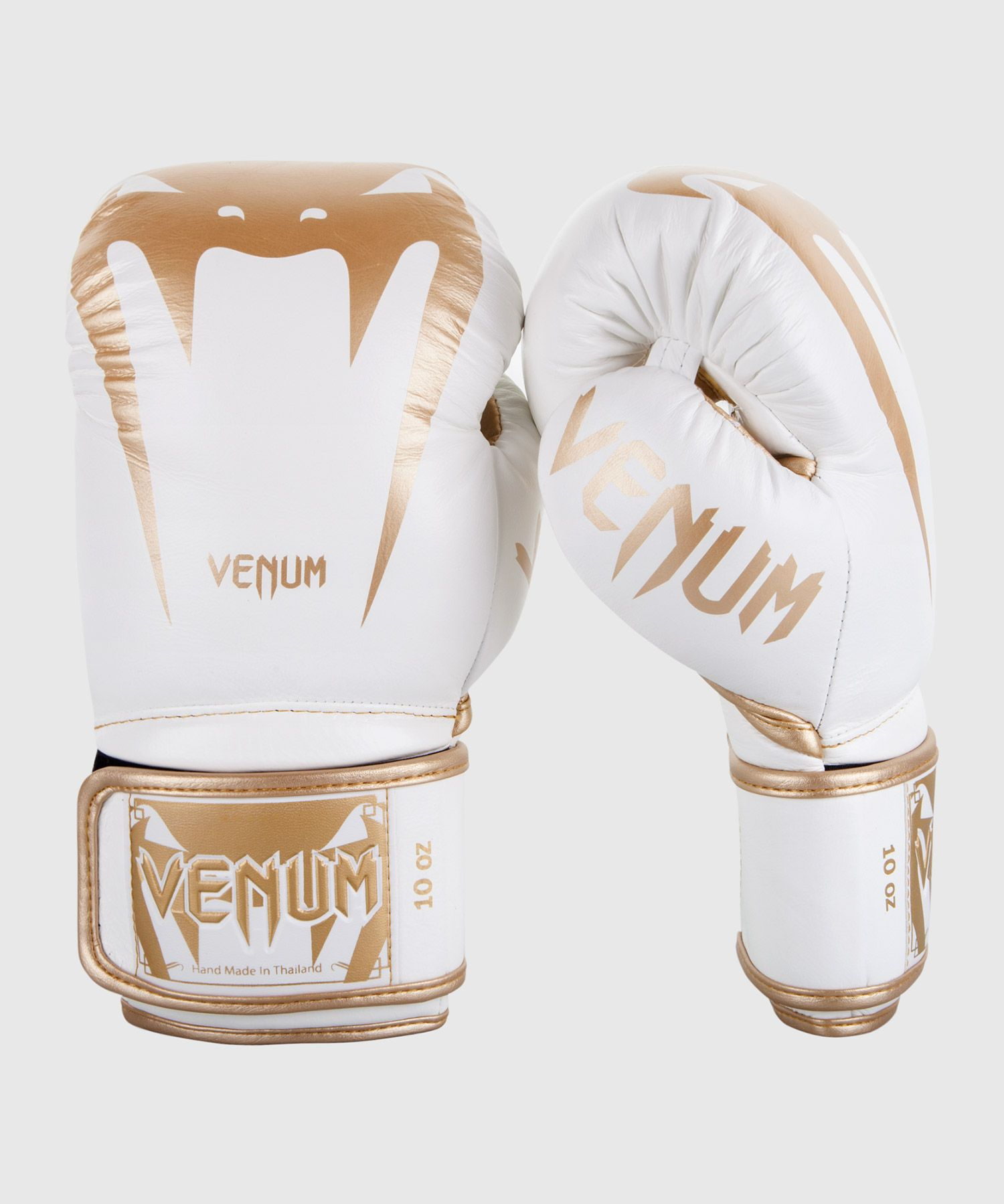 Venum Giant 3.0 Boxing Gloves - Nappa Leather - White/Gold