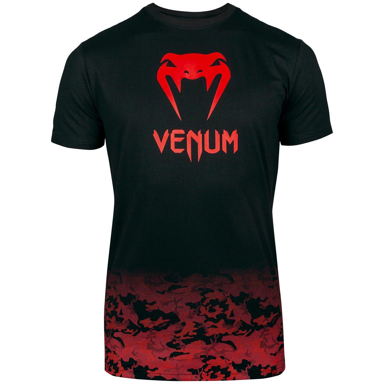 Camiseta Venum Classic - Negro/Rojo