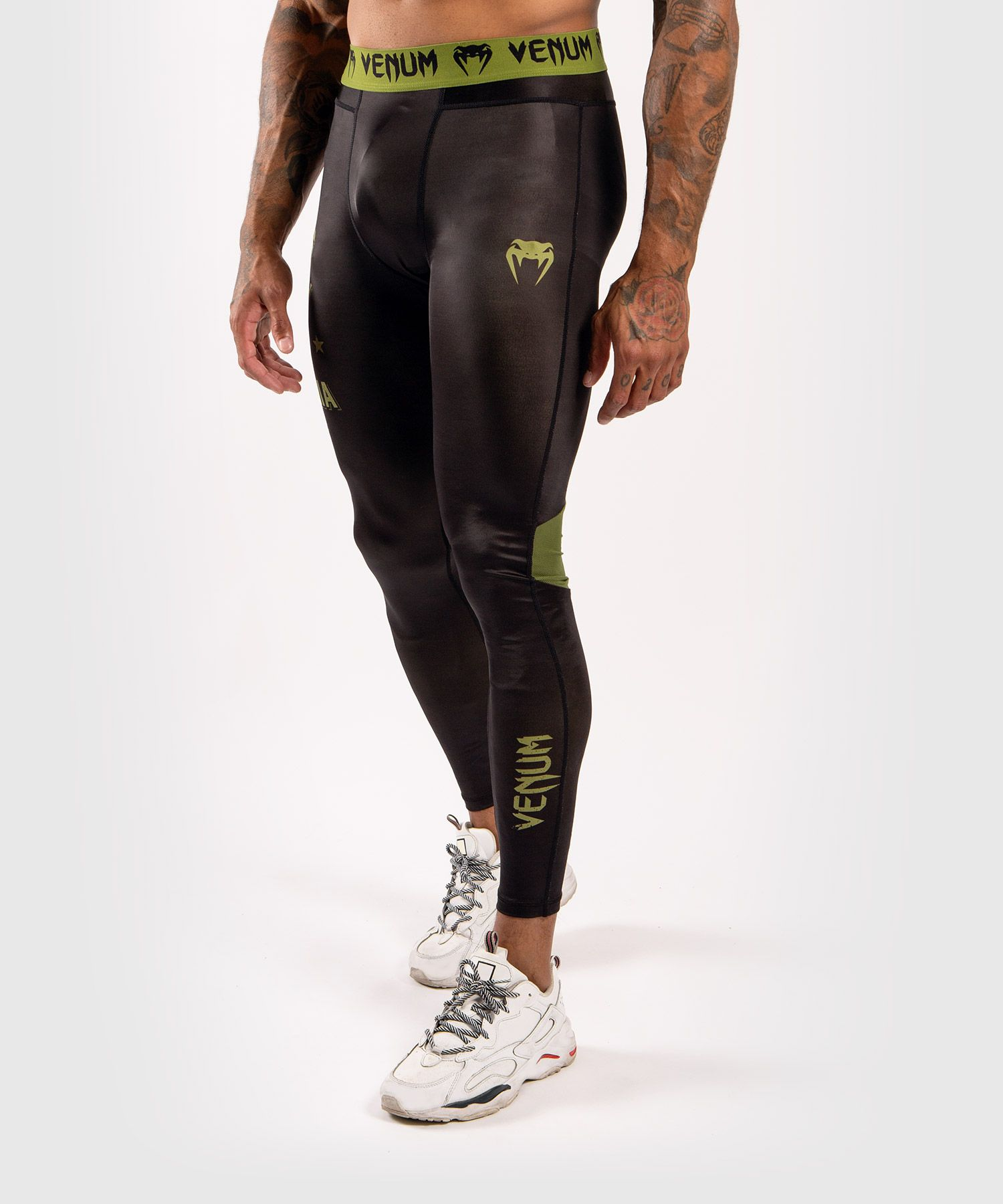 Pantalon de compression Venum Boxing Lab - Noir/Vert
