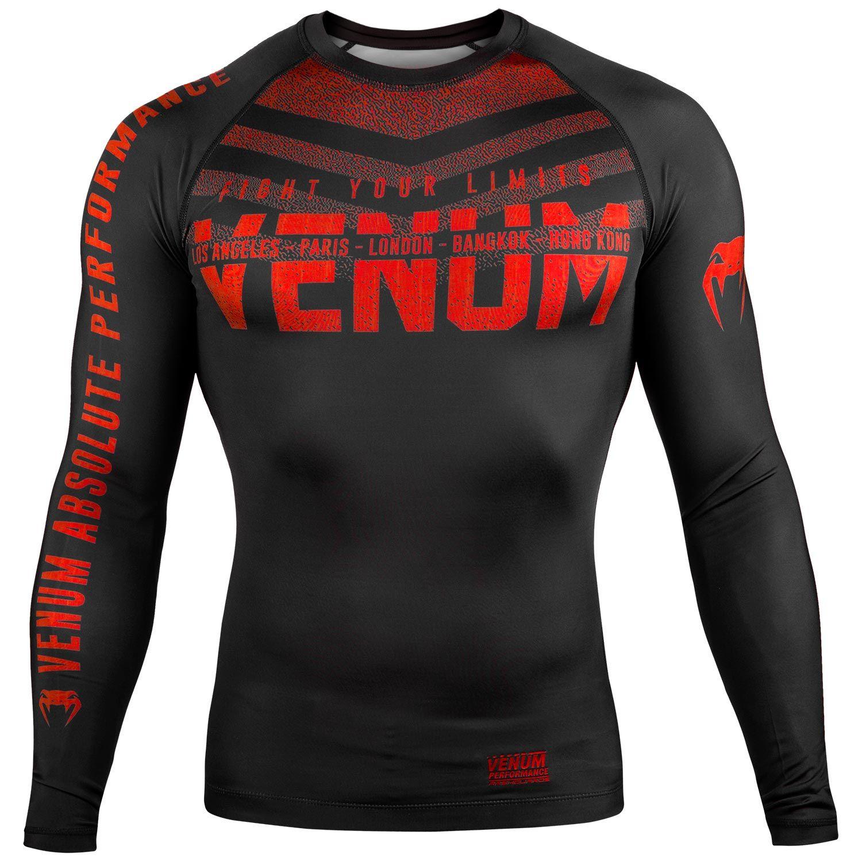 Venum Signature Rashguard - lange mouwen - Zwart/Rood