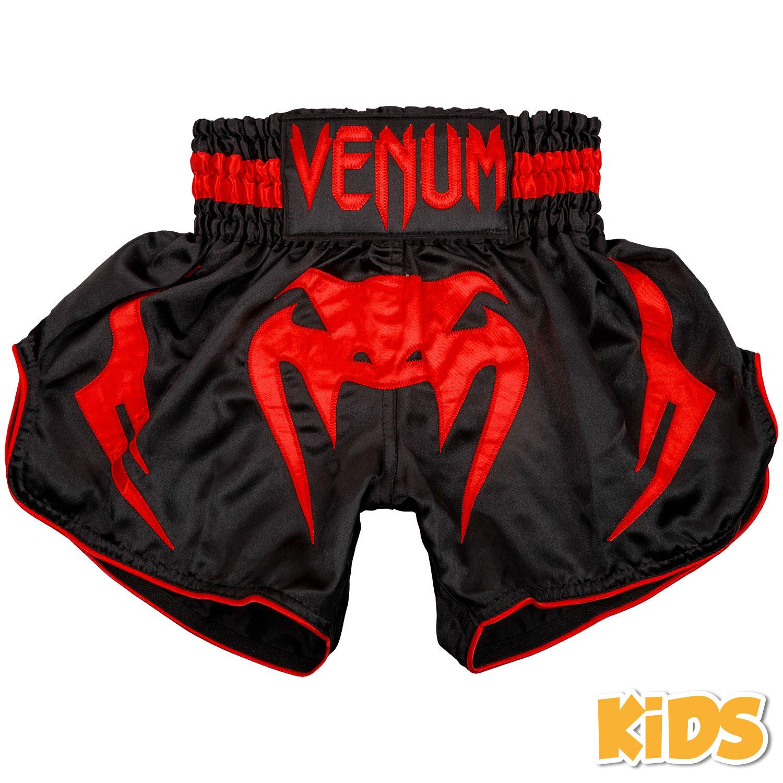 Venum Bangkok Inferno Muay Thai Shorts - Kinder - Schwarz/Rot