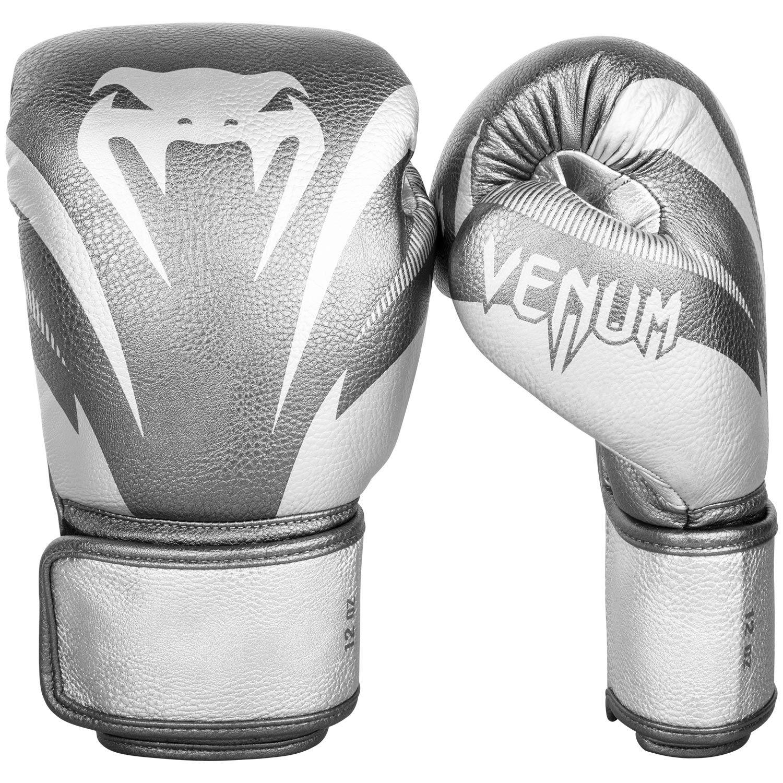 Guantes de Boxeo Venum Impact  - Plata/Plata