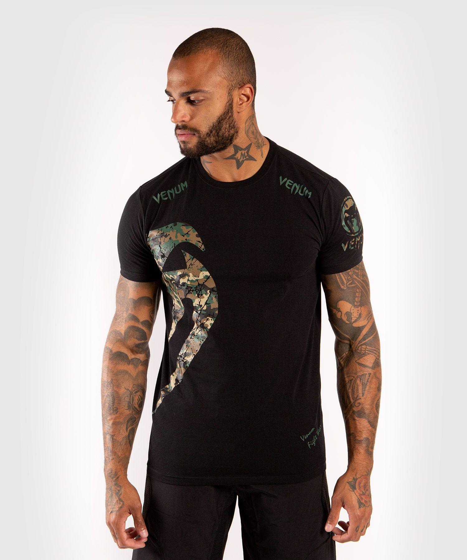 Camiseta Venum Original Giant - Negro/Bosque Camo