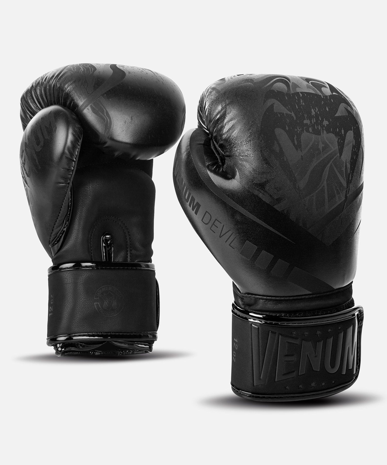 Venum Devil Boxing Gloves - Black/Black
