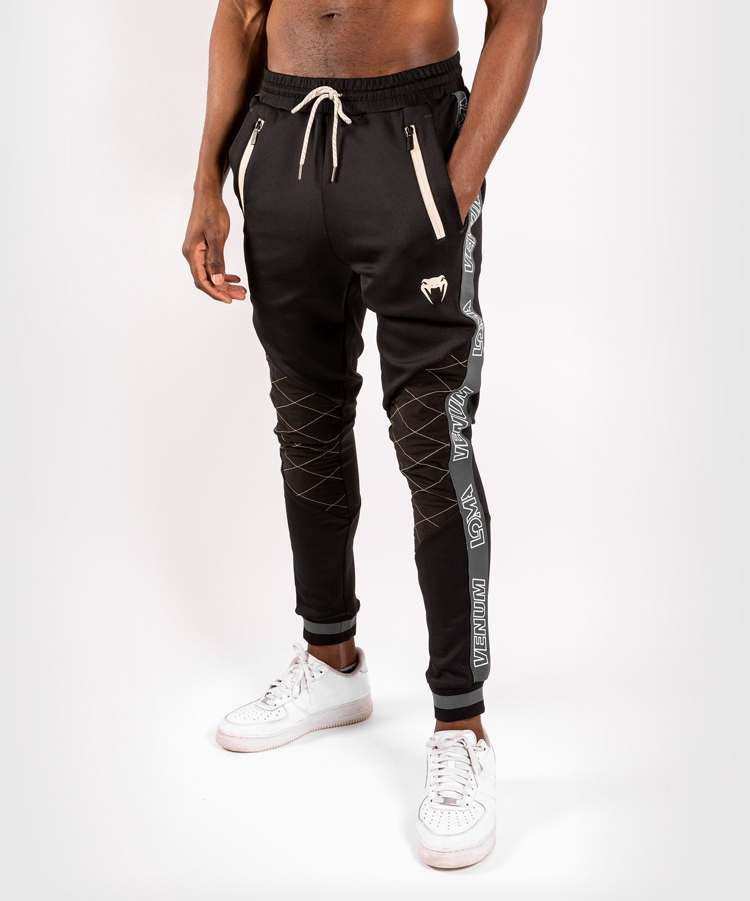 Pantalones de jogging Venum Arrow Loma Signature Collection - Negro/Blanco
