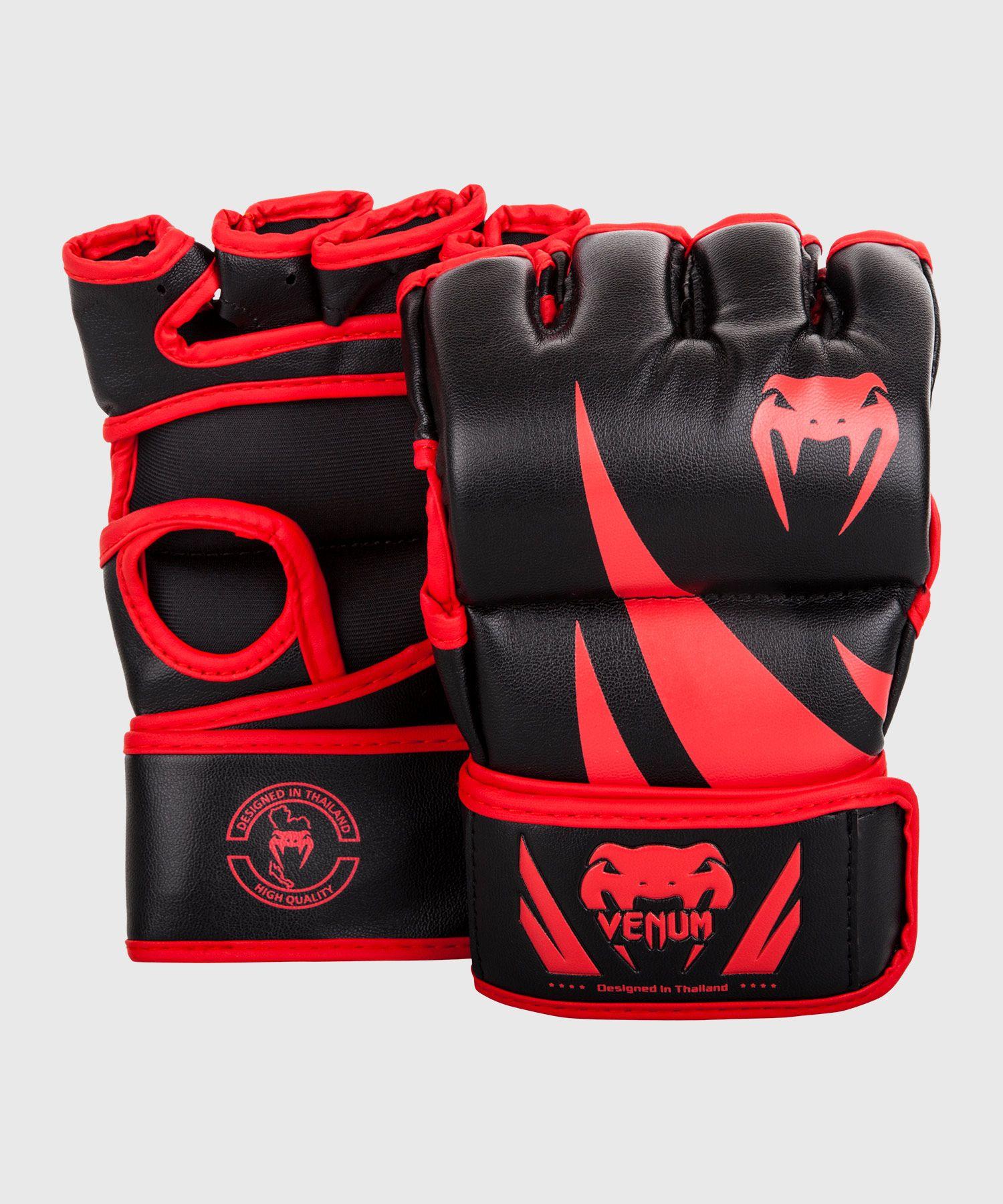 Gants de MMA Venum Challenger - Sans pouce - Noir/Rouge