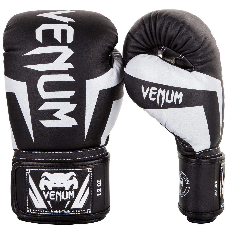 Venum Elite Boxing Gloves - Black/White