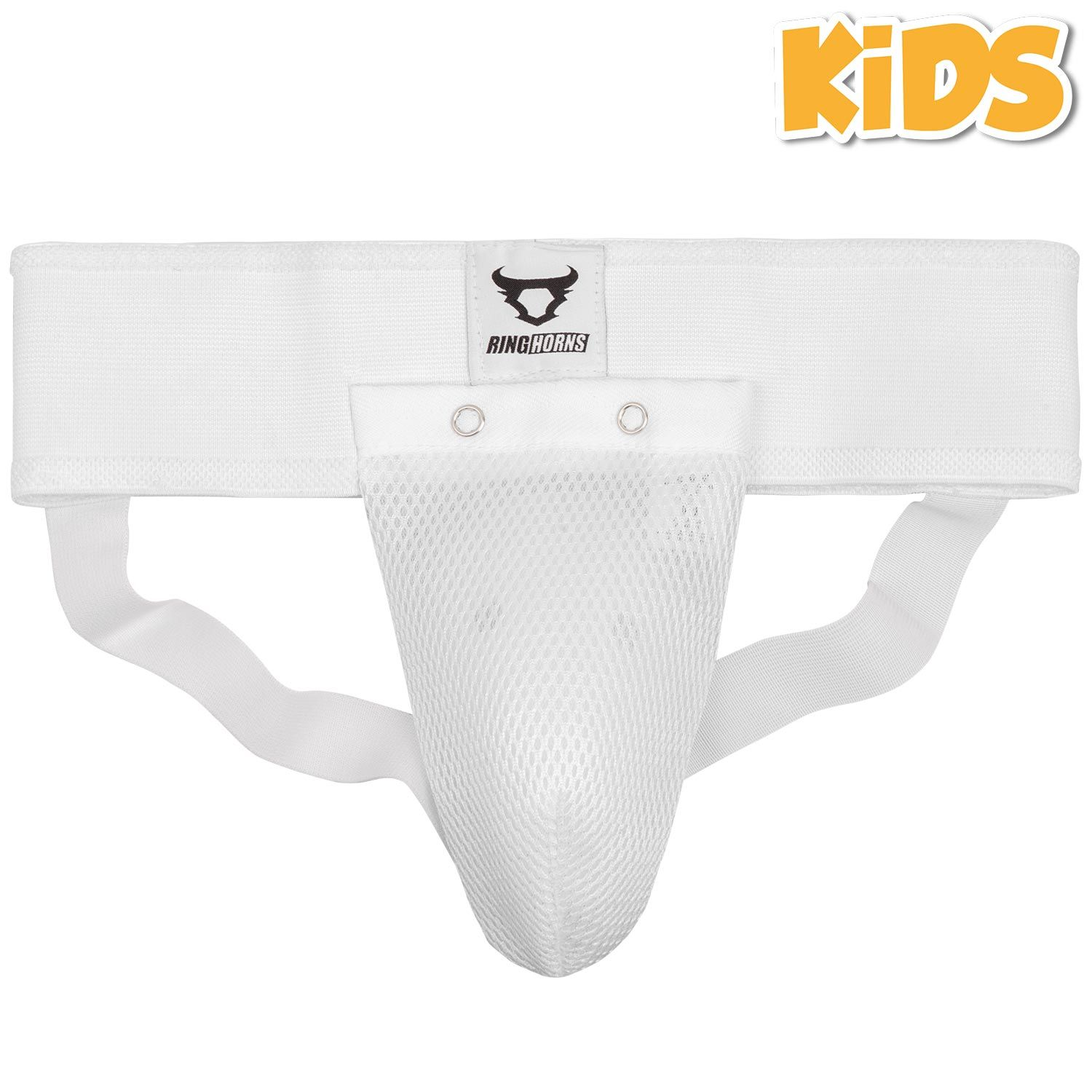 Ringhorns Charger Kids Groin Guard & Support - White