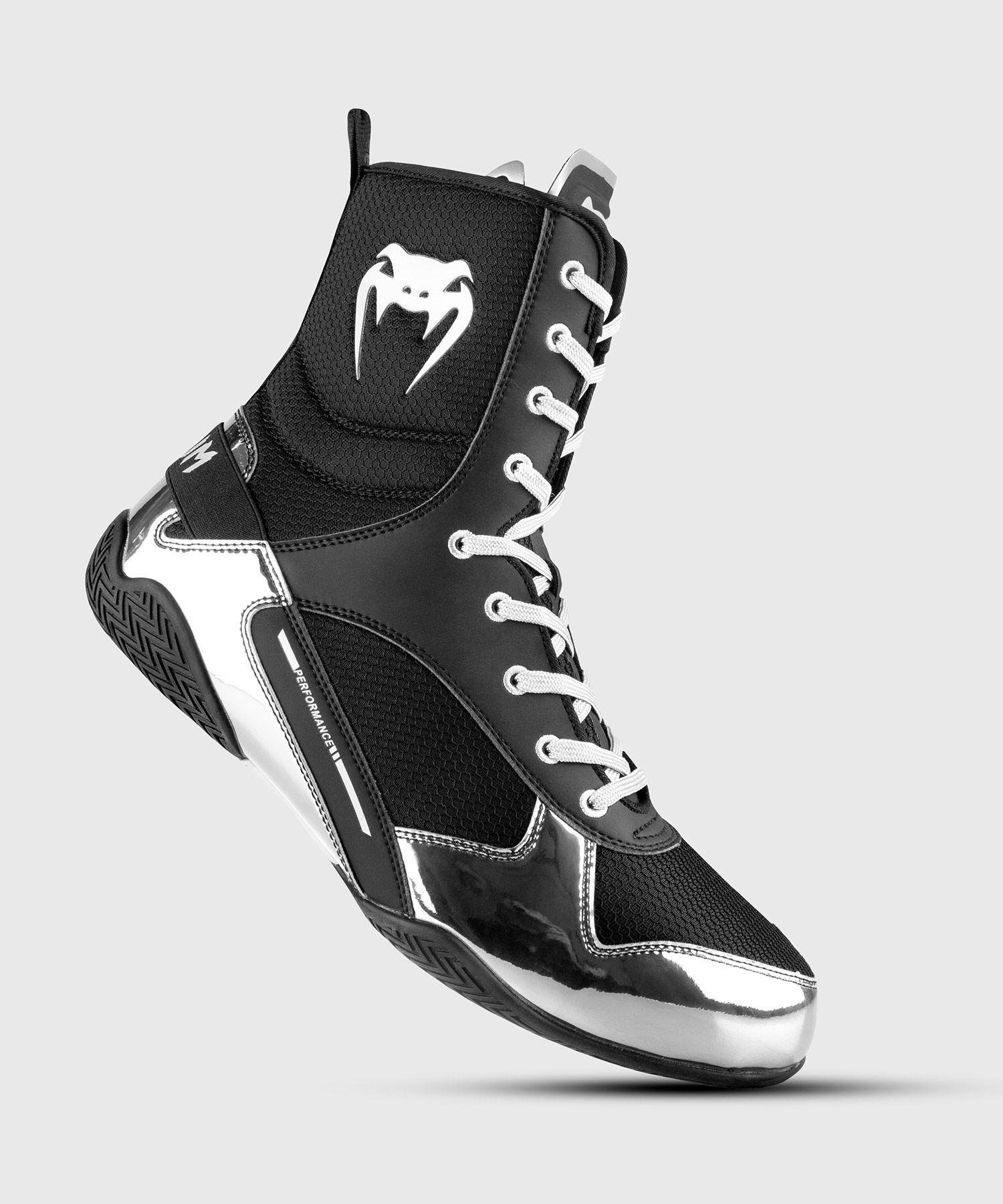 Botas de Boxeo Venum Elite - Negro/Plata