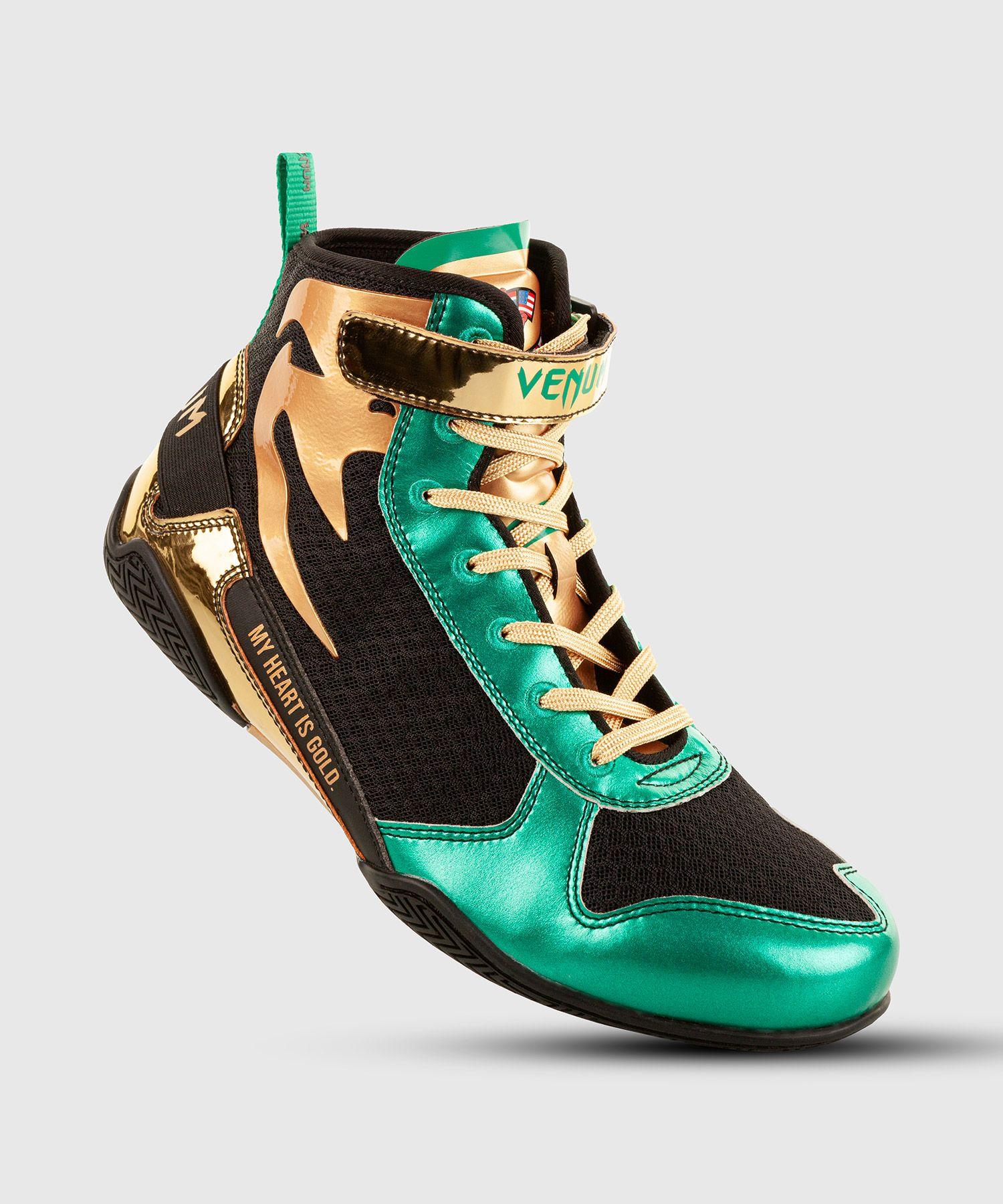 Botas de boxeo Venum Giant Low Boxing - Edición limitada WBC - Verde metálico/Oro