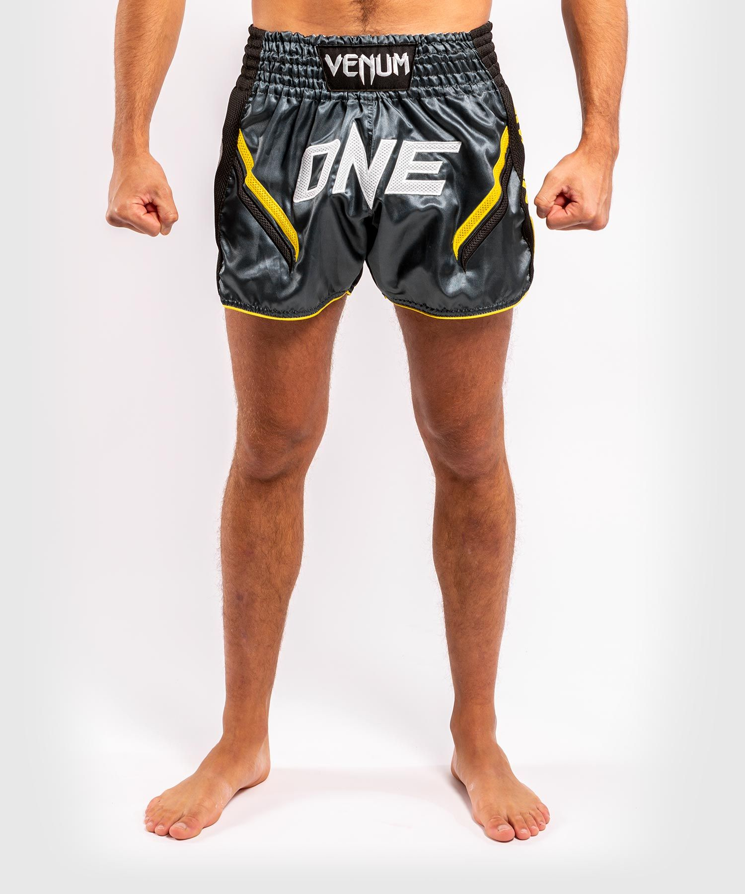 Venum ONE FC Impact Muay Thai Shorts - Grey/Black