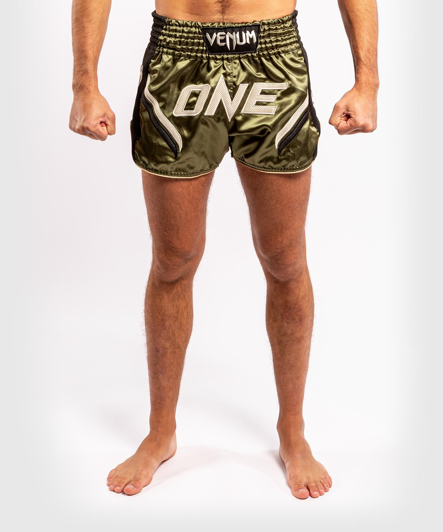 Pantaloncini da Muay Thai ONE FC Impact - Nero/Cachi