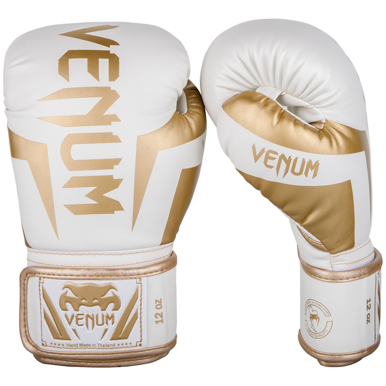 Guantes de Boxeo Venum Elite - Blanco/Oro
