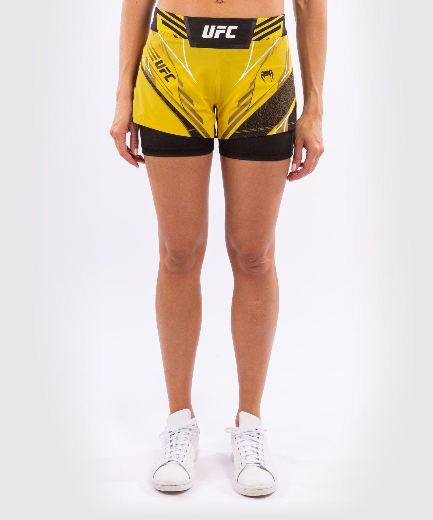 UFC Venum Authentic Fight Night Women's Shorts - Short Fit - Yellow