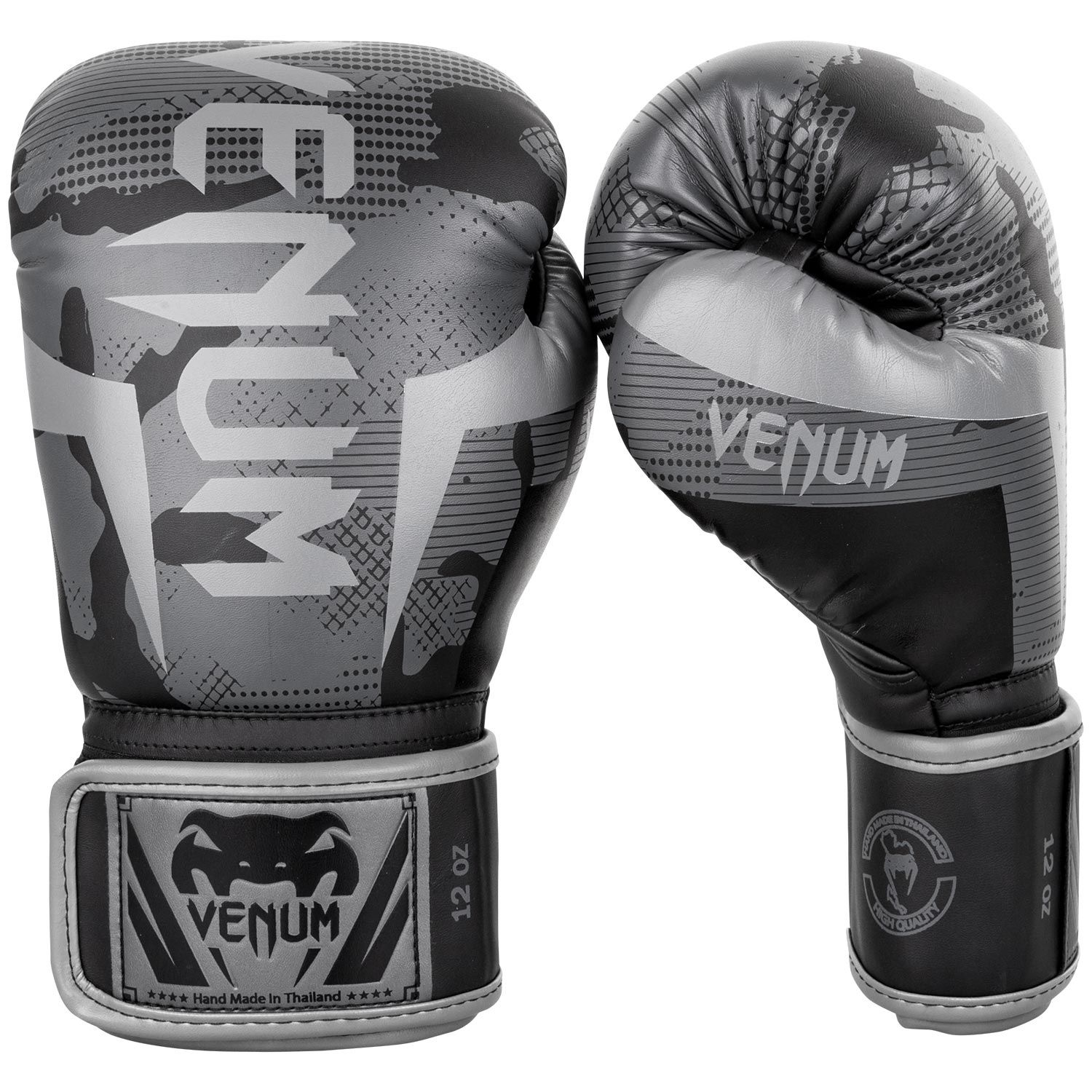 Venum Elite Boxing Gloves - Black/Dark camo