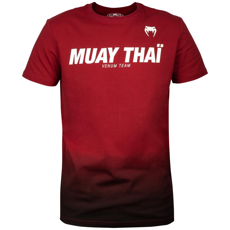 Venum Muay Thai VT T-Shirt - Weinrot/Schwarz