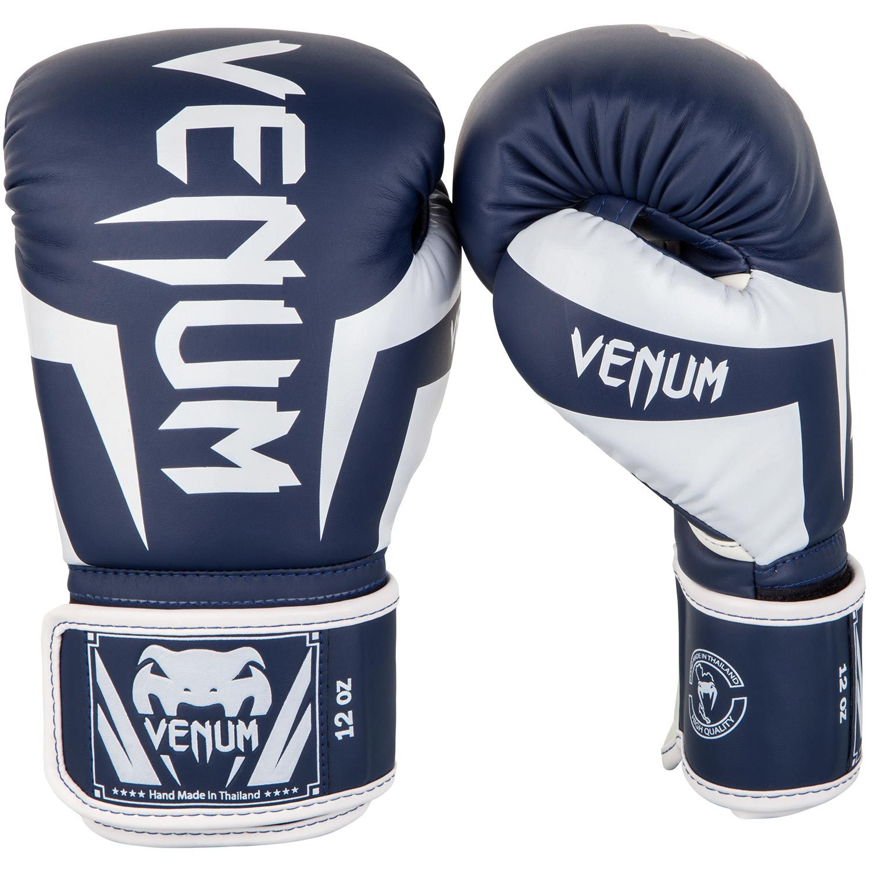Guantes de Boxeo Venum Elite - Blanco/Azul Marino