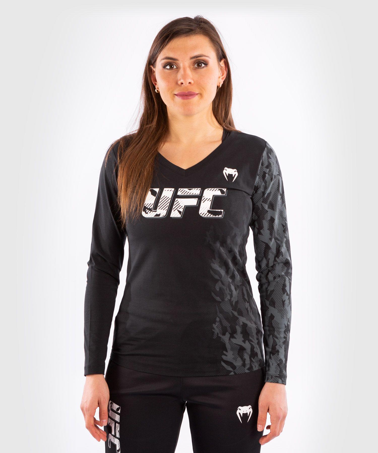 T-shirt Manches Longues Femme UFC Venum Authentic Fight Week - Noir
