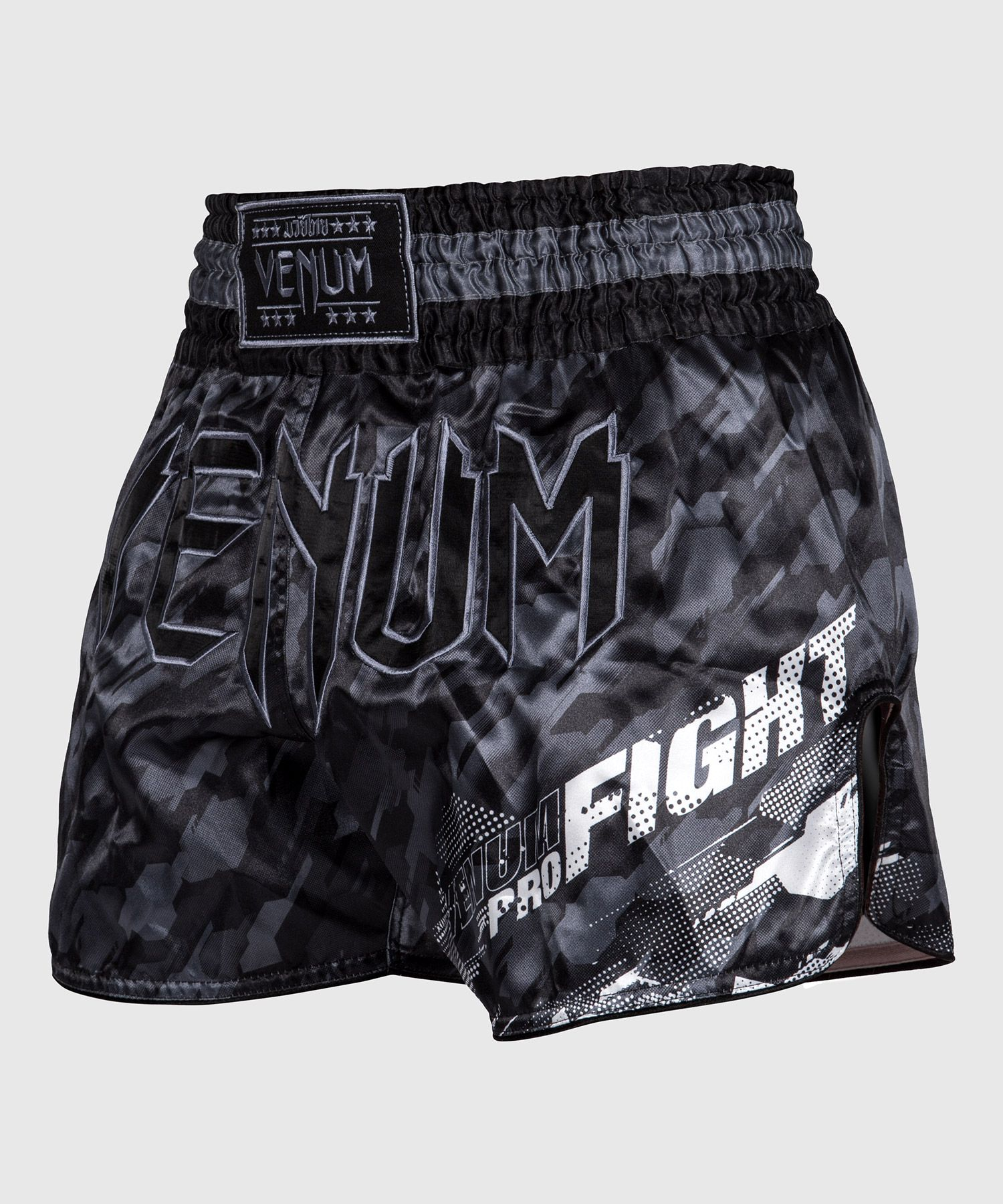 Venum Tecmo Muay Thai Short - Donkergrijs