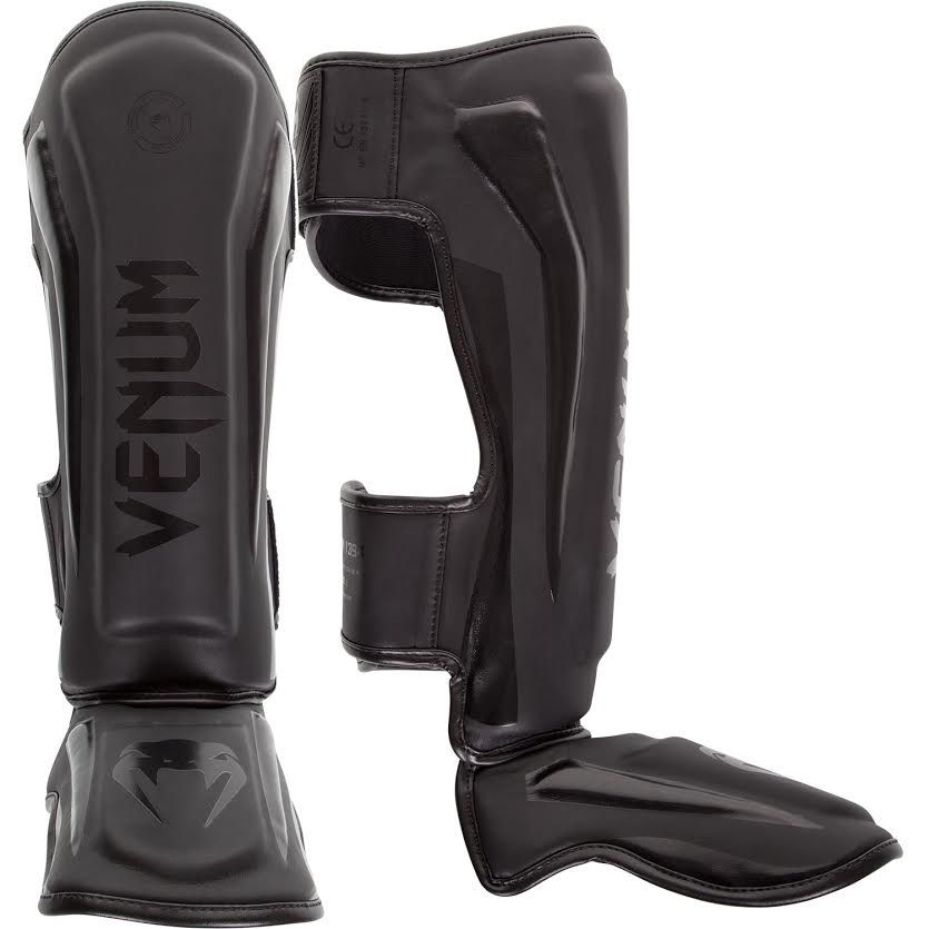 Venum Elite Standup Shin Guards - Matt/Schwarz