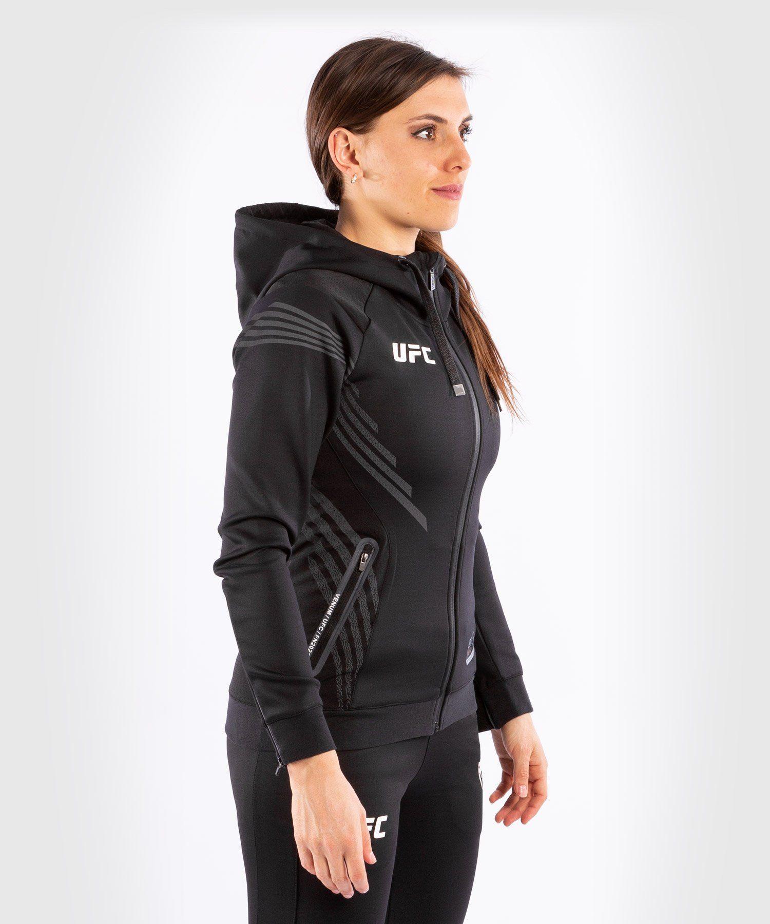 UFC Venum Fighters Authentic Fight Night Women's Walkout Hoodie - Black