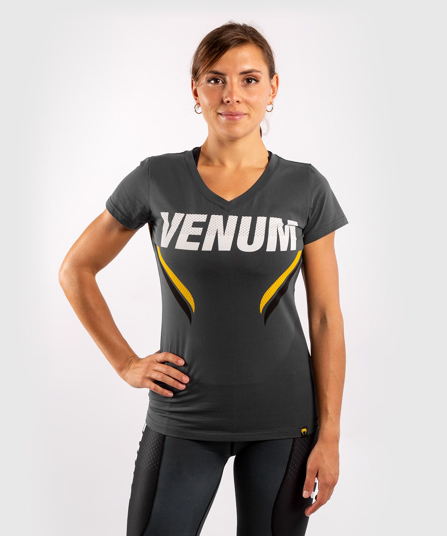 Venum ONE FC Impact T-shirt - for women - Grey/Yellow