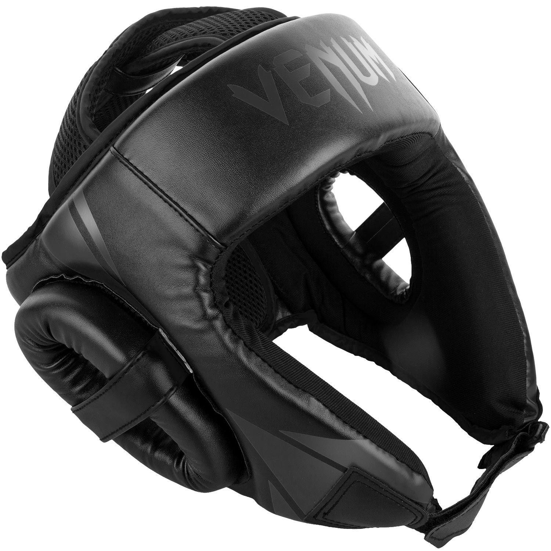 Venum Challenger Open Face Headgear - Black/Black