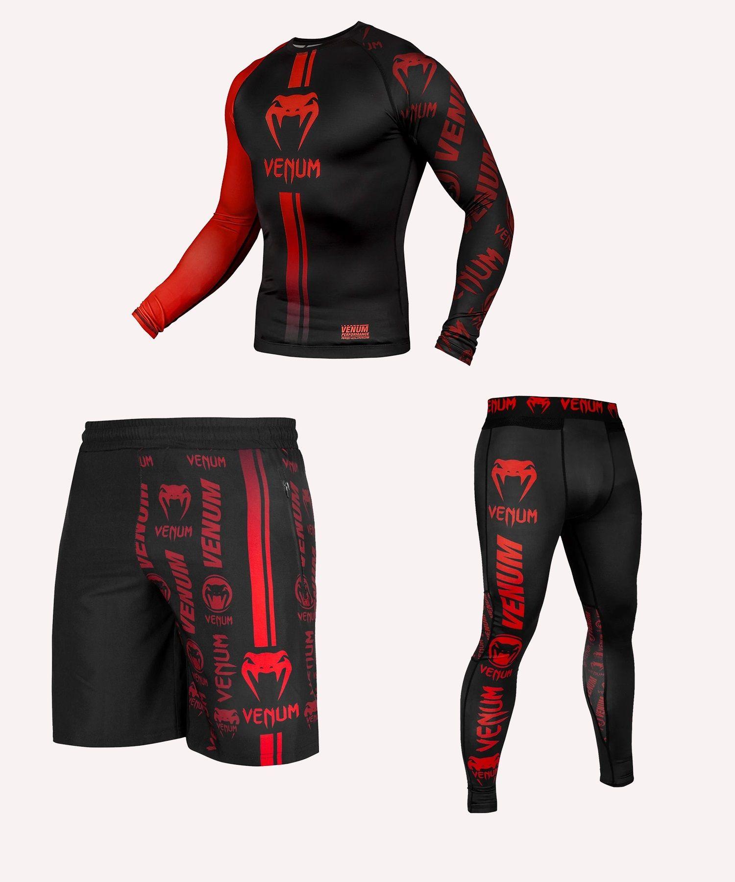 Venum Logos Black/Red ULTIMATE Pack - Long sleeves