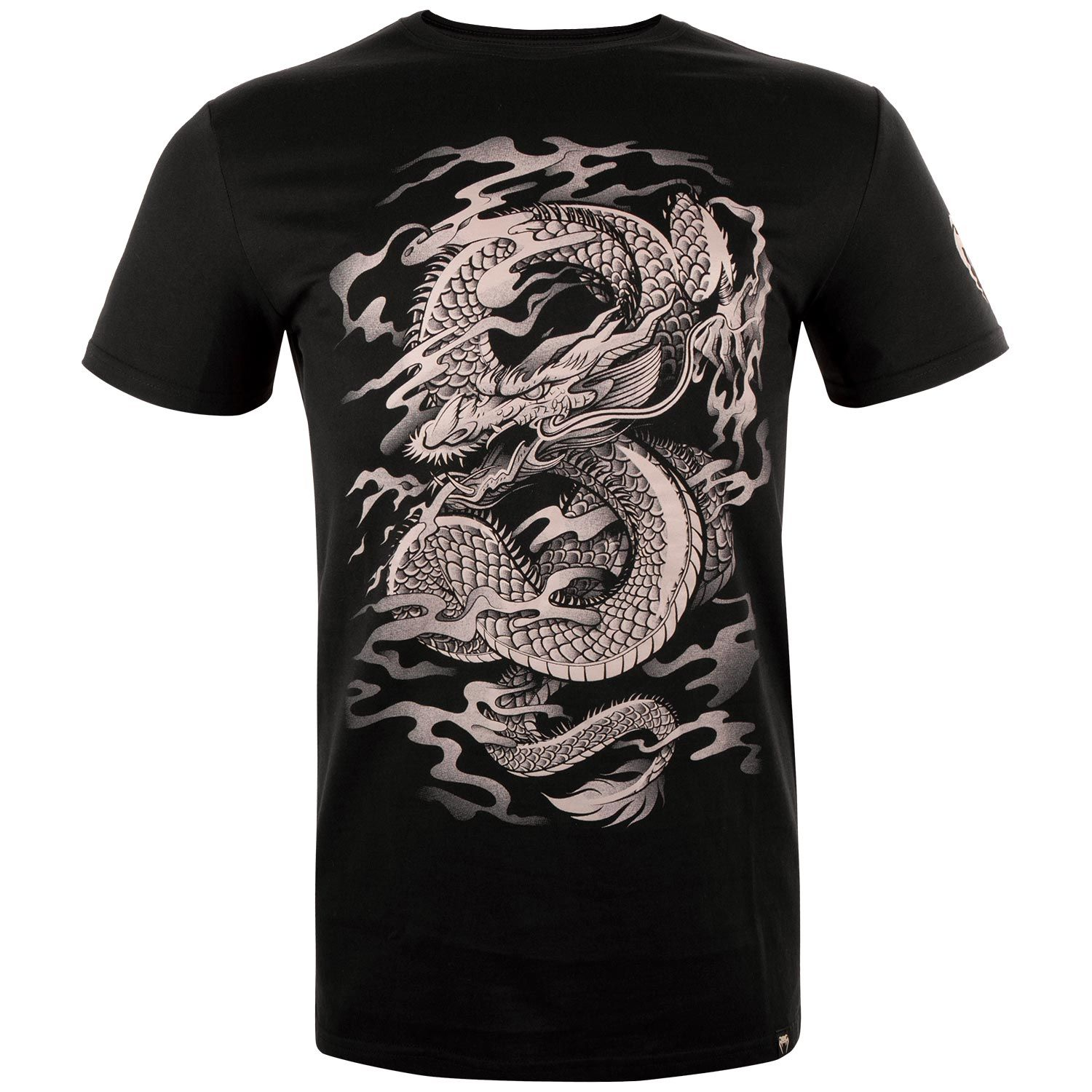 T-shirt Venum Dragon's Flight - Nero/Sabbia