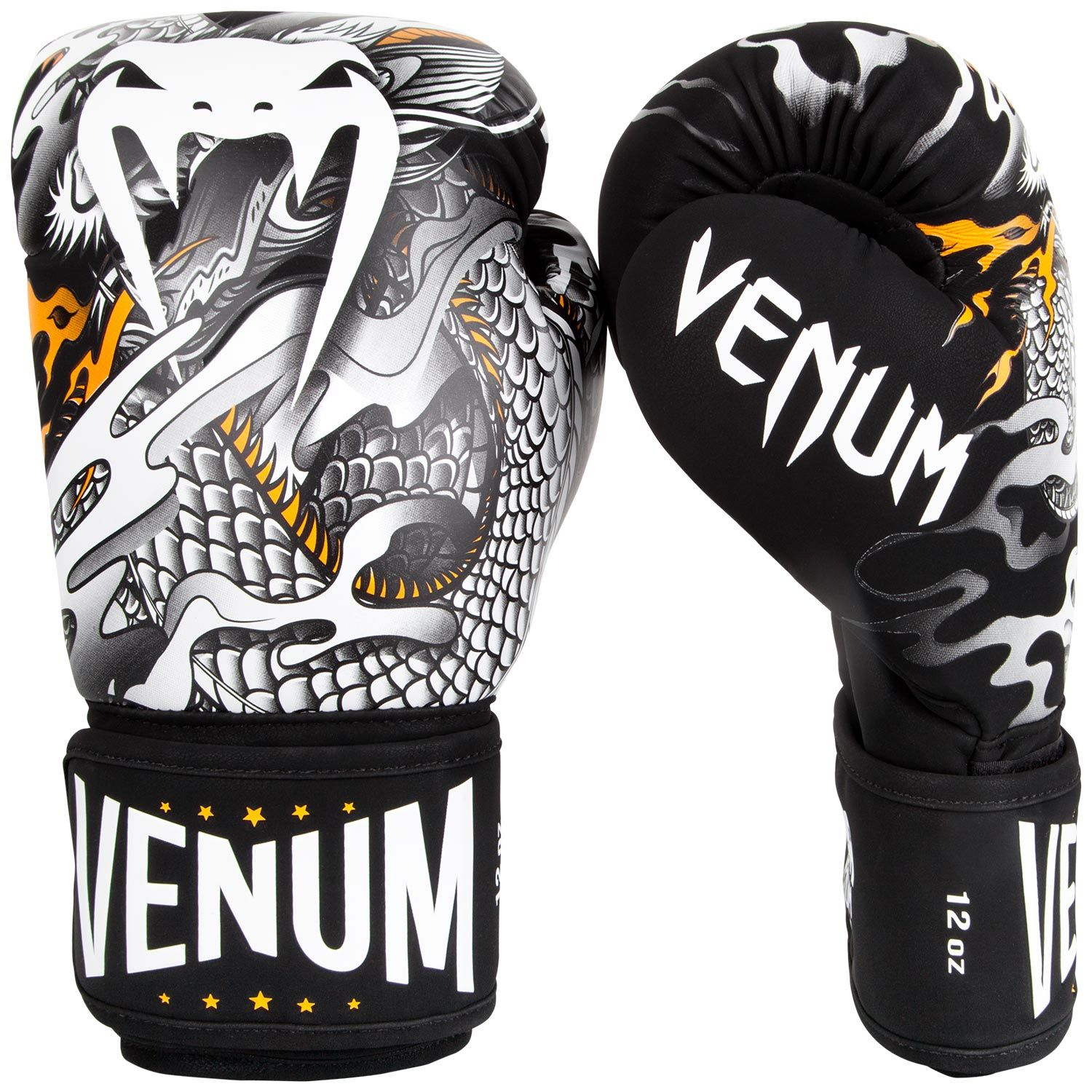 Guantes de Boxeo Venum Dragon's Flight  - Negro/Blanco