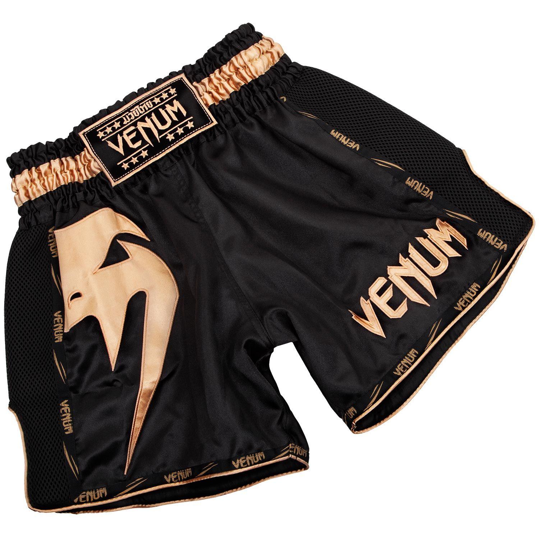 Venum Giant Muay Thai Short - Zwart/goud