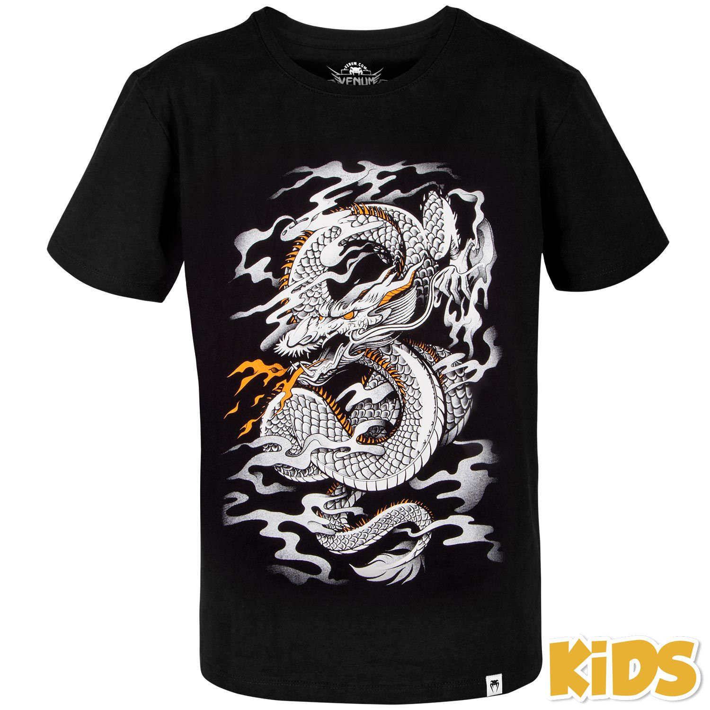 Venum Dragon's Flight Kids T-shirt - Black/White