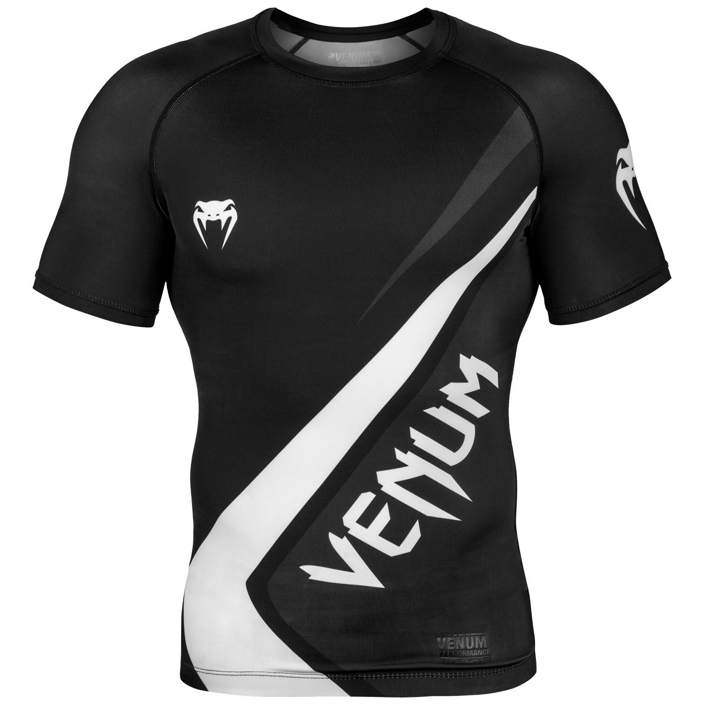 Rashguard Venum Contender 4.0 - Manches courtes - Noir/Gris-Blanc