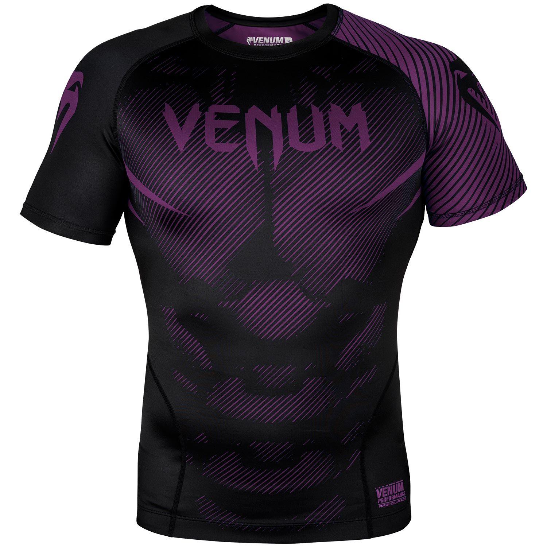 Venum NoGi 2.0 Rashguard - Short Sleeves - Black/Purple