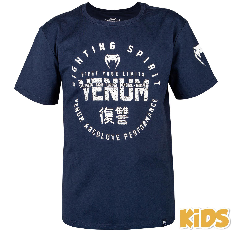 T-shirt Venum Signature Bambino - Blu marino