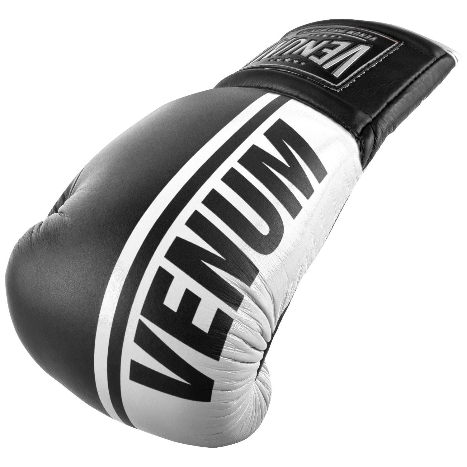 Venum Shield Pro Boxing Gloves - With Laces - Black/White