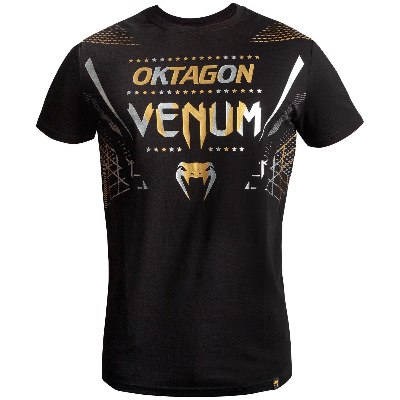 Venum Oktagon T-shirt - Zwart/Goud-Zilver