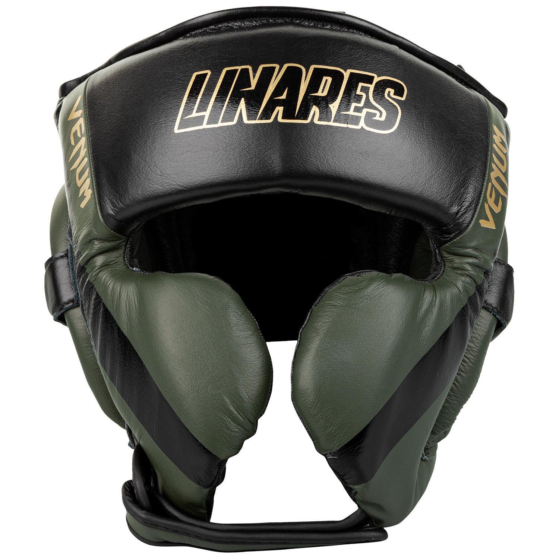 Casco de boxeo profesional Venum Edición Linares - Caqui/negro/dorado