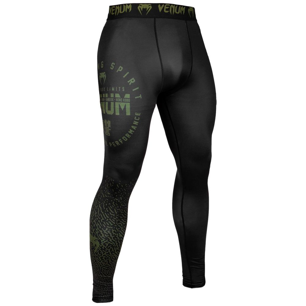 Pantalon de Compression Venum Signature - Noir/Kaki - Exclusivité
